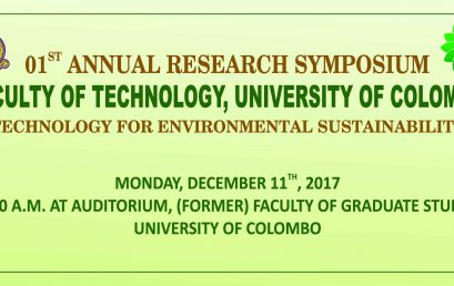 The 1st Annual Research Symposium Faculty of Technology, University of Colombo